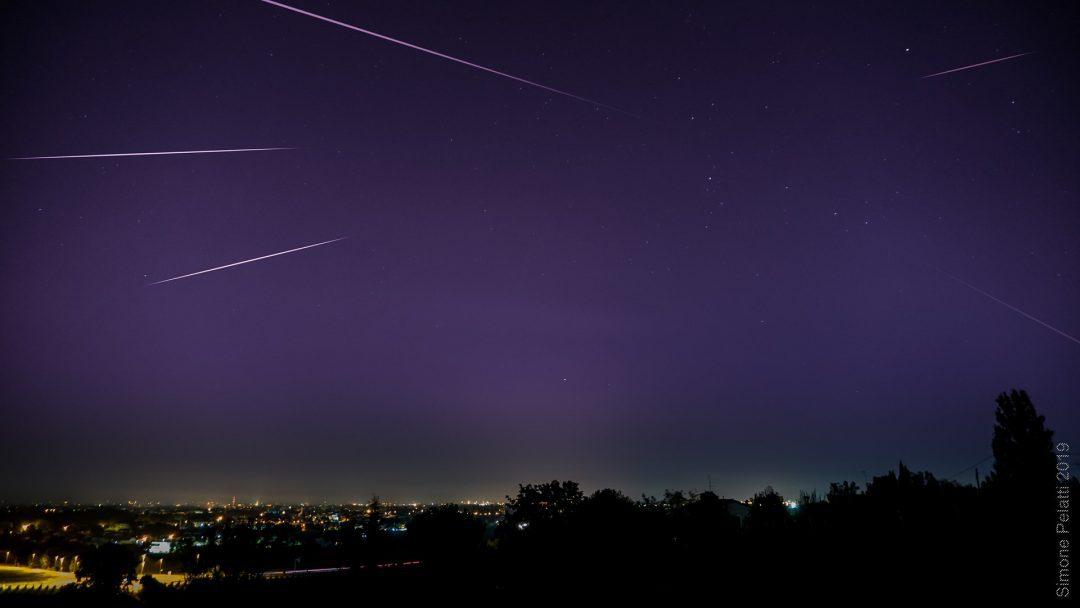 Perseids meteor shower over Forlì